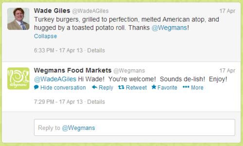Wegmans Tweet 1